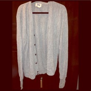 Gray Cardigan w| Buttons Size Large